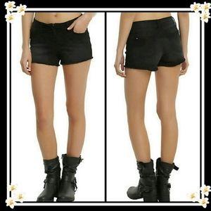 Hot Topic Blackheart Lace-Up Black Shorts Sz 5 & 7